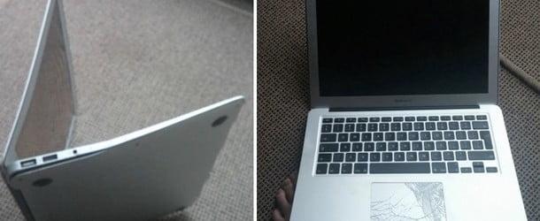 Uçaktan Düşen MacBook Air Hala Çalışıyor