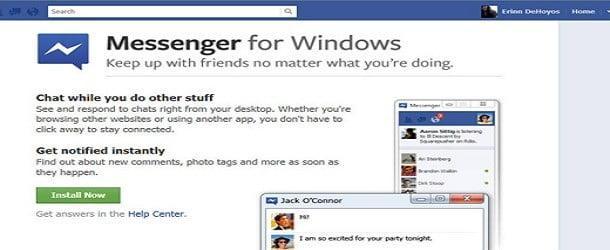 Facebook Messenger Web Çıktı
