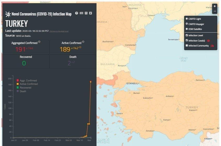 Coronavirus(COVID-19)'u takip edebileceğiniz interaktif haritalar!