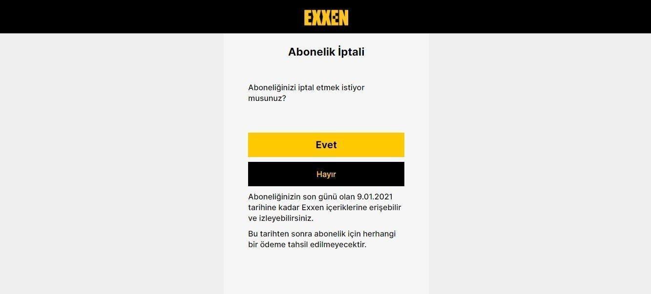 Exxen.com Üyeliği Nasıl İptal Edilir(Kesin Çözüm) ?