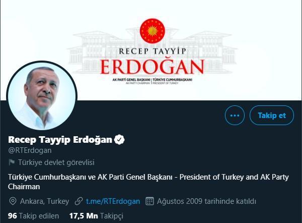 Twitter, Cumhurbaşkanı Erdoğan ve Devlet Yöneticilerinin Hesaplarını Etiketledi